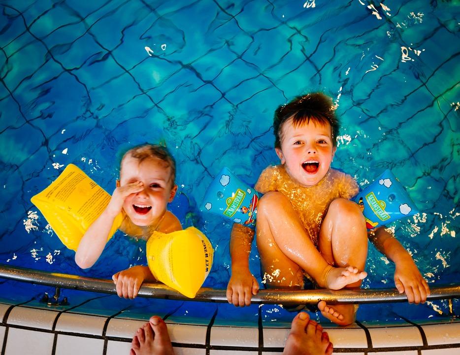 Swimming, Children, Pool, Boys, Water, Happy, Fun