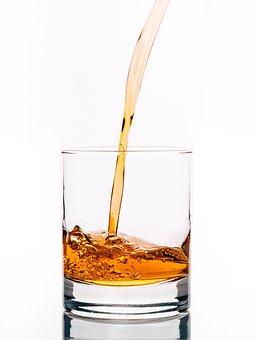 Alcohol, Glas, Gieten, Whisky, Drinken