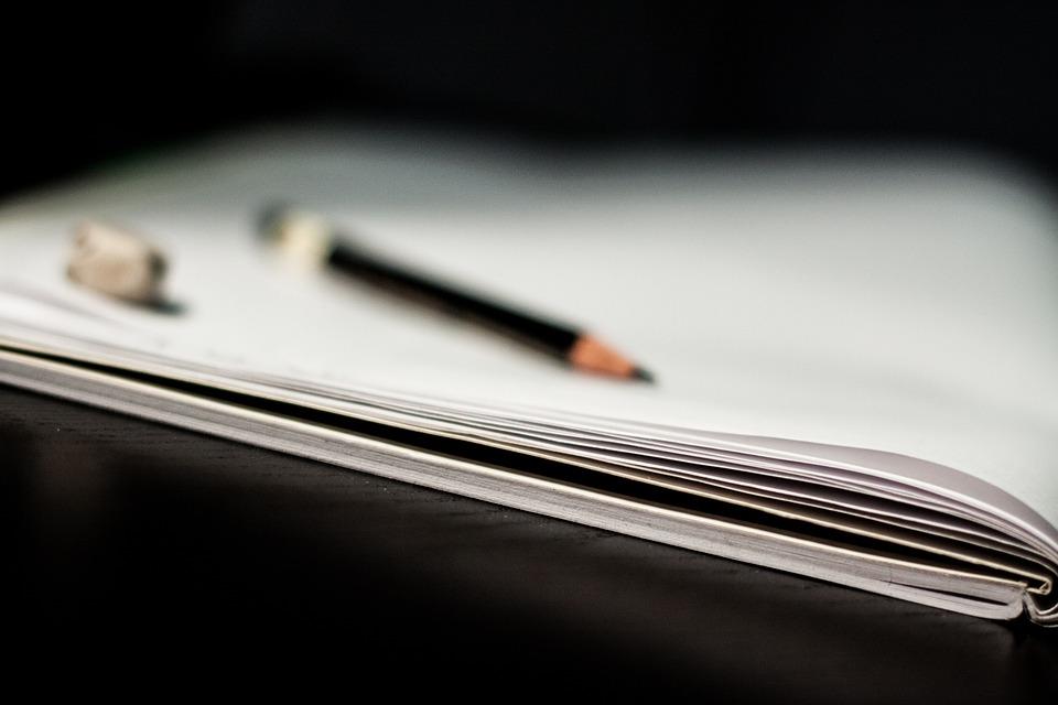 ノートブック, 鉛筆, メモ帳, 紙, 教育, ペン, ビジネス, 空白, 書き込み, 学校, 仕事, 学習
