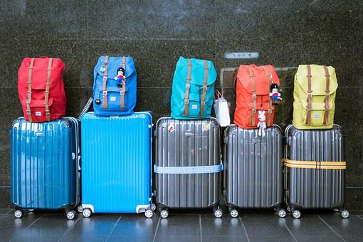 Luggage Suitcases Baggage Bags Vacation Jo