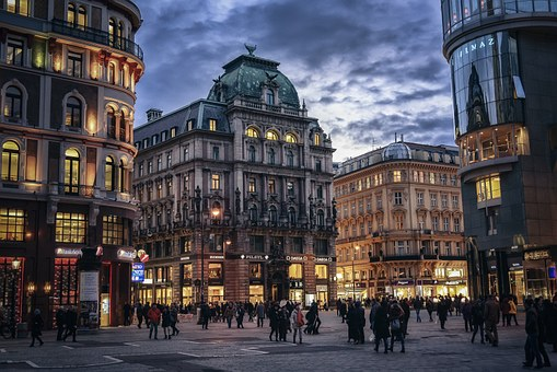 Vienna, Austria, City, Evening, Europe