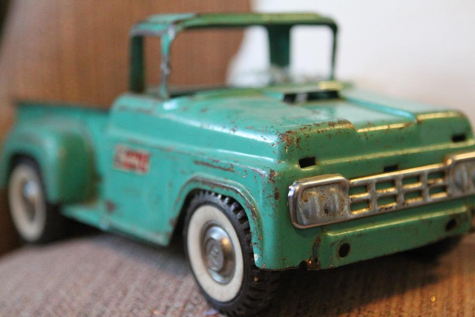 Charming Vintage Toy Trucks Part - 13: Toy, Truck, Antique, Collectible, Fun, Colorful
