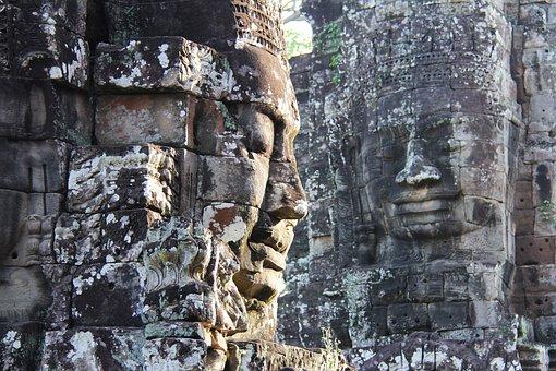 Bayon Temple, Temple, Travel, Antique