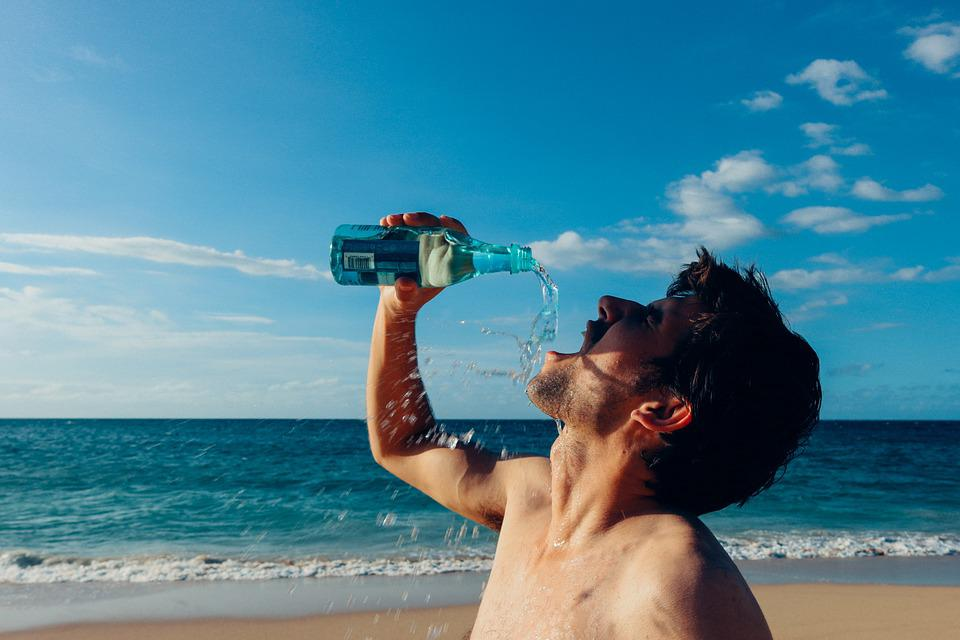 Thirsty Man, Drink, Drinking, Water, Male, Young