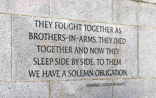 Wwii, Memorial, Quote, Monument, War