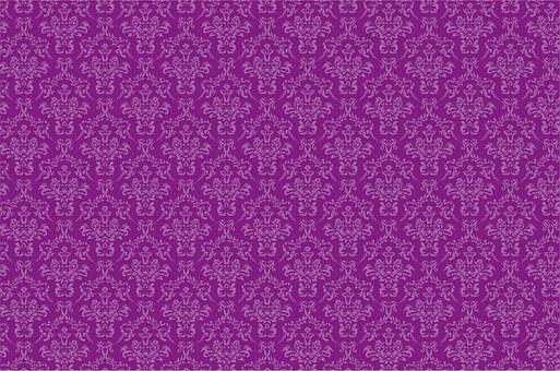 Damask Pattern Background Purple Dama