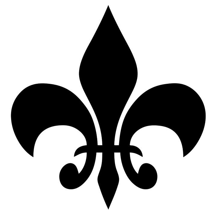 Fleur De Lys, Symbole, Fleur, De, Lys, Lis, Décoration