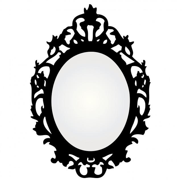 Kostenlose Illustration: Spiegel, Rahmen, Verzieren ...