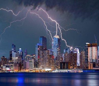 New York, Lightning Storm, Lightning