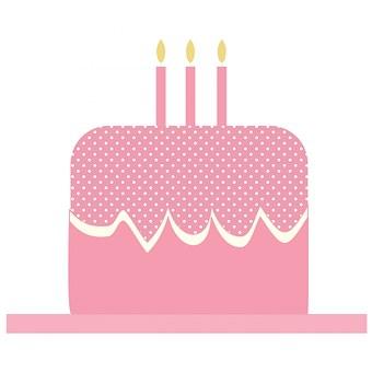 Cake Birthday Candles Pink