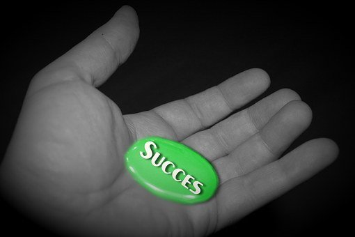 Success, Hand, Ambition, Career, Rise