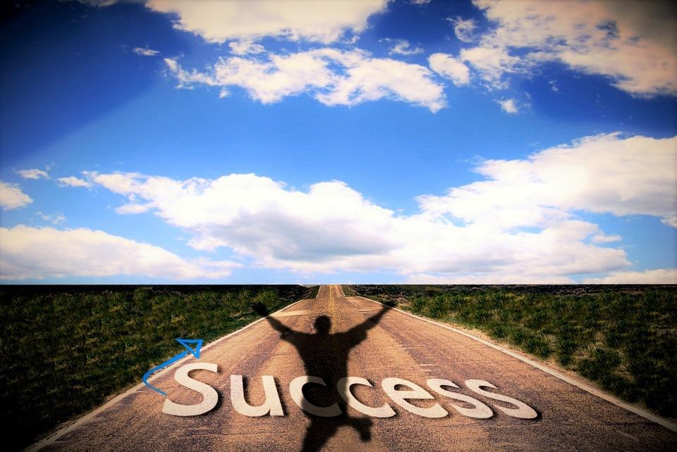Sukces, Niebo, Ambicją, Kariera, Wzrost, Wysięgnik