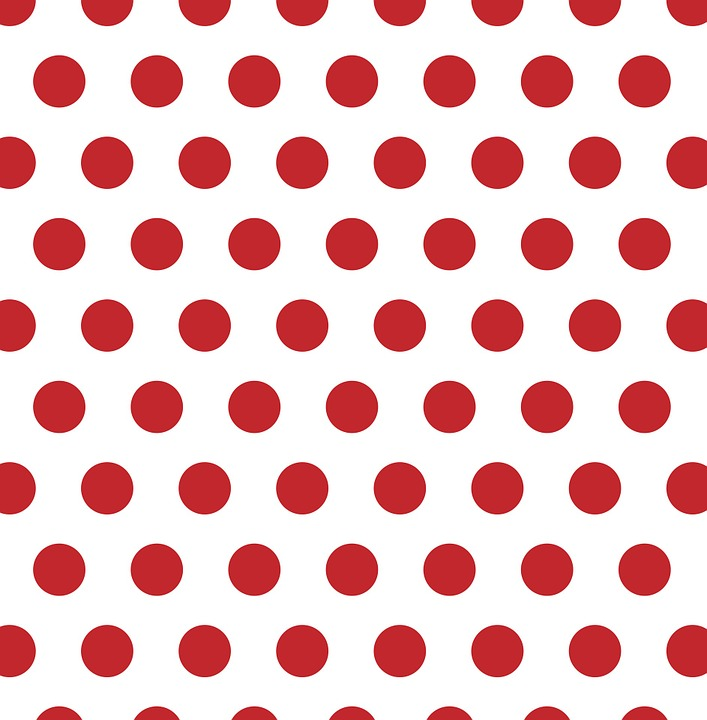 Polka Dots Red White Spots Background