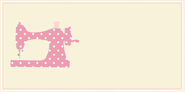 Free Illustration Sewing Machine Card Template Free