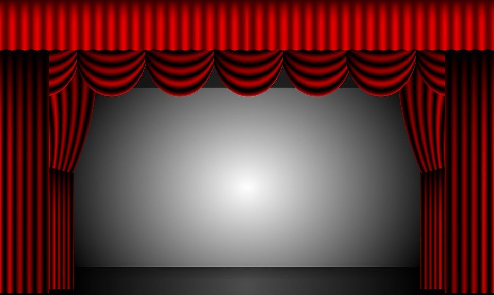 Free Illustration Theatre, Curtains, Stage, Drapes - Free