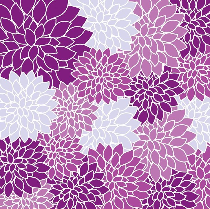 Kostenlose illustration blumen tapete dahlie lila for Tapete lila muster
