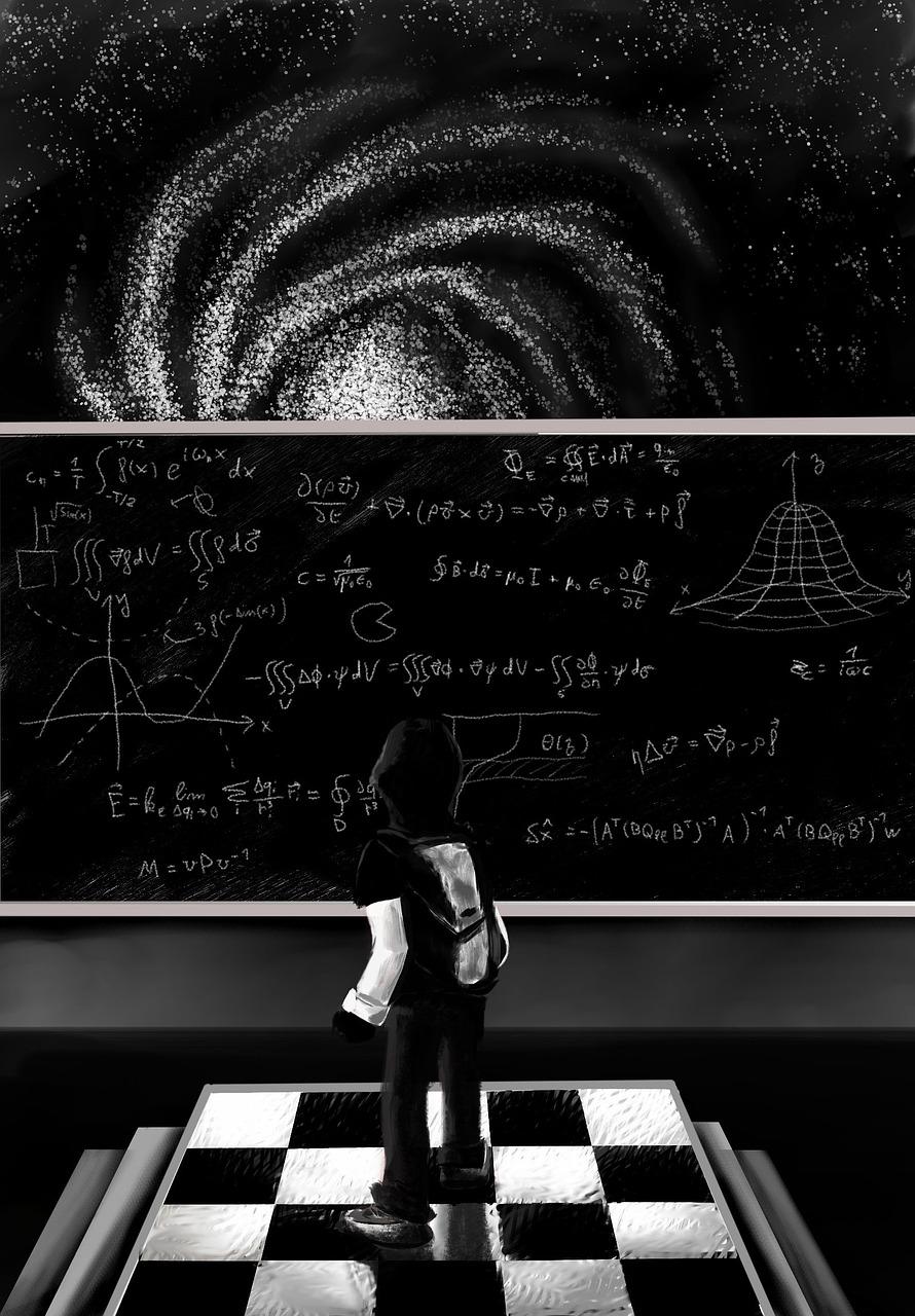 картинка черная математика или солнечный