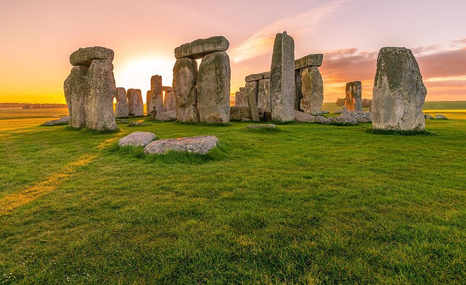 Lever Du Soleil, Stonehenge, Antique, Ciel, Monument