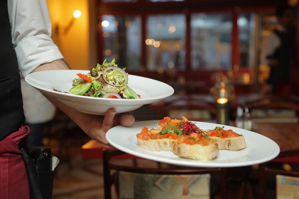 Abendessen, Salat, Restaurant, Italiener, Berlin