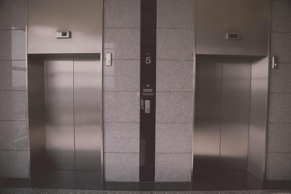 エレベーター, 美しい景色, 建物, ドア, 内