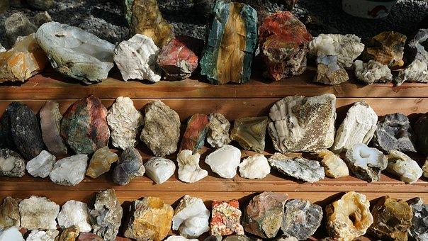 Steine, Gestein, Sammlung, Steinbrocken