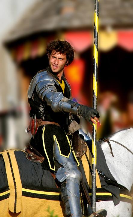 Knight, Renaissance Fair, Joust, Medieval, Horse, Lance