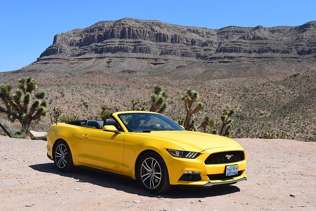 Free Photo Yellow Car Car Mustang Desert Free Image