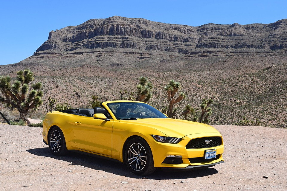 Free Photo Yellow Car Car Mustang Desert Free Image