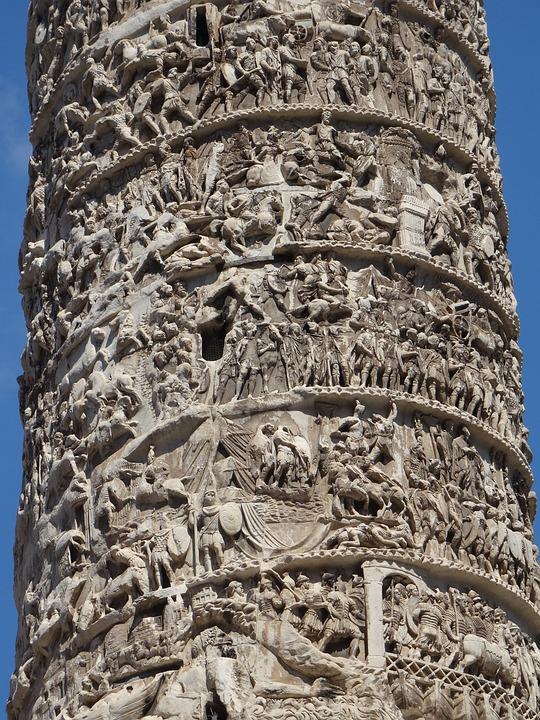 Rome Italy Column 183 Free Photo On Pixabay