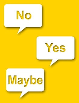 Yes No Maybe Yellow Indecisive Balloon Spe