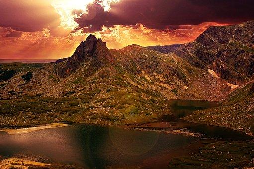 山, 景观, 自然, 史诗, 令人惊叹, 充满活力, 惊险, 引人注目, 天空