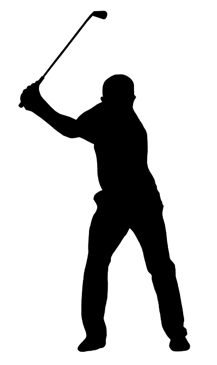 Golf golf swing golfer silhouette black white