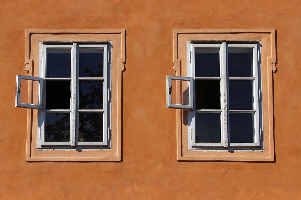 Windows, Wall, House, Facade, Building, Symmetry