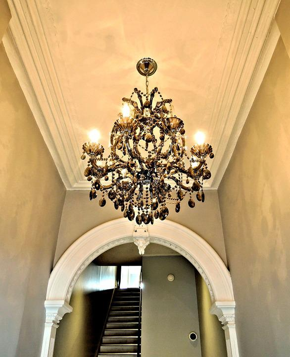 Free photo chandelier hallway building free image on pixabay 941828 - Building a chandelier ...