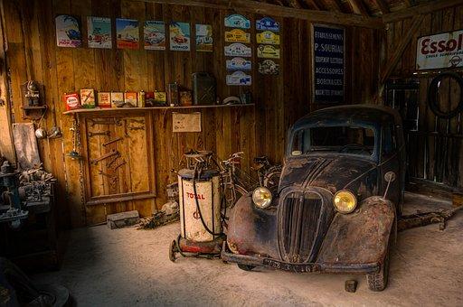 Garage, Shop, Car, Fix, Hdr, Light
