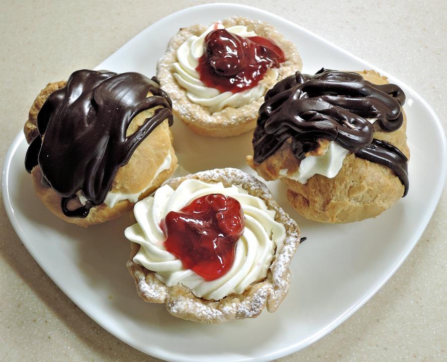 Chocolade Soesjes Roomkaas Gratis Foto Op Pixabay