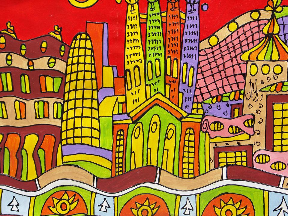Barcelona Dibujo Casas Foto Gratis En Pixabay