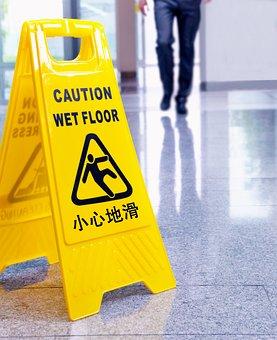 マーク, 慎重, スリップ, 滑りやすい床, 慎重な, 記号