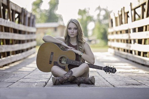 Guitar Country Girl Acoustic Guitar Talent