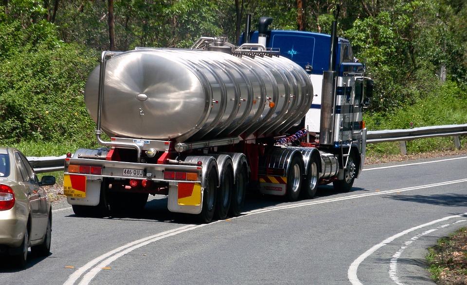 Vrachtwagen, Tanker, Water Vervoerder, Metaal, Voertuig