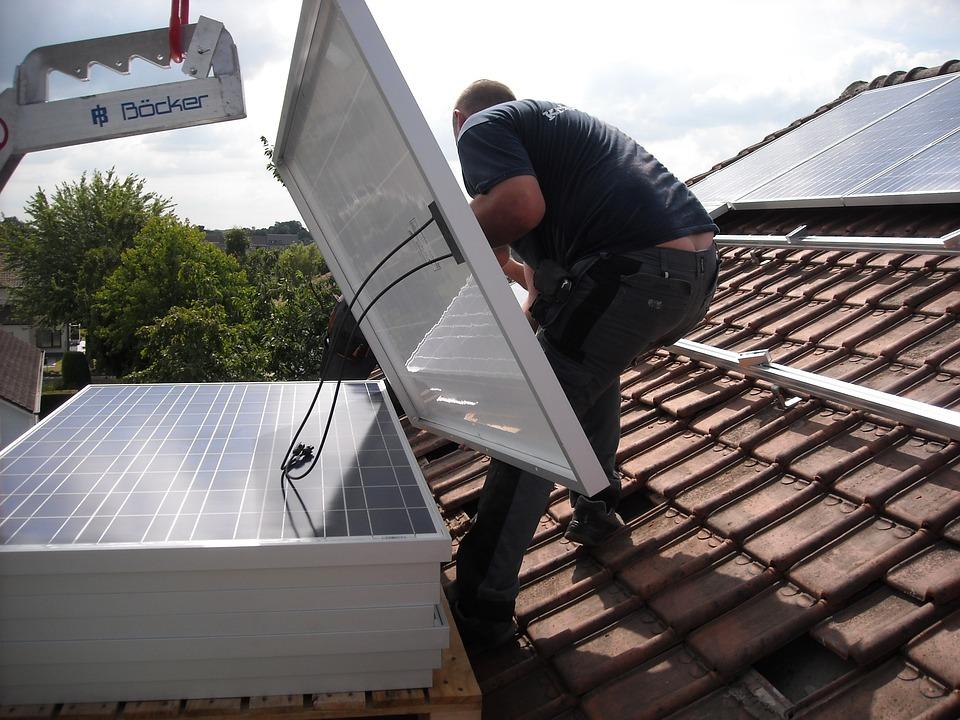 Panneaux Solaires, Placement, Toiture, Énergie Verte