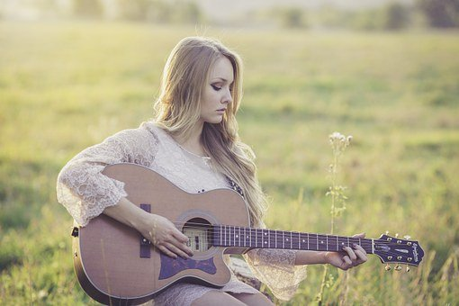 Country, Guitar, Girl, Music, Instrument