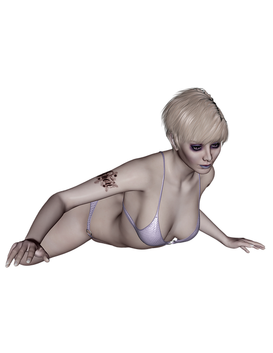 Naked mature full figured woman