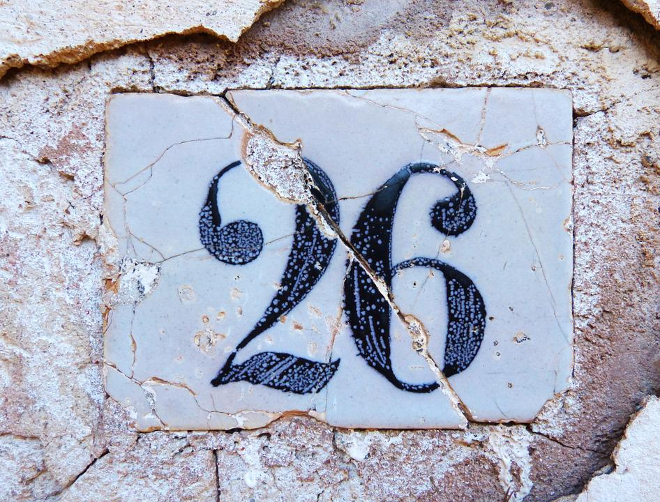 free photo  number  26  tile  indicative - free image on pixabay