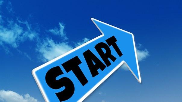 変更, 矢印, 雲, 空, 方向, 開始, 新しい始まり, 初め, 始めます