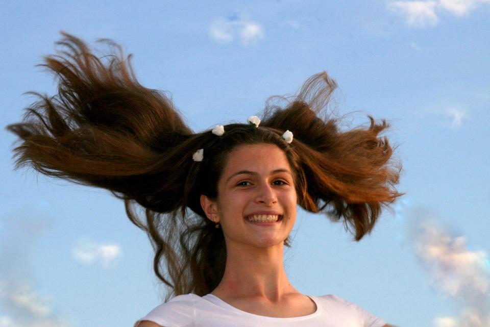 Девушка, Длинные Волосы, Отказов, Небо, Облако