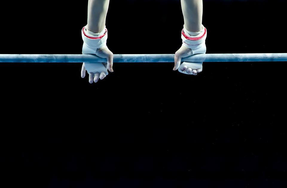 アクティブ, 運動選手, 背景, バー, 開始, ぶら下げる, 機器, 夜, 運動, 指, 適合