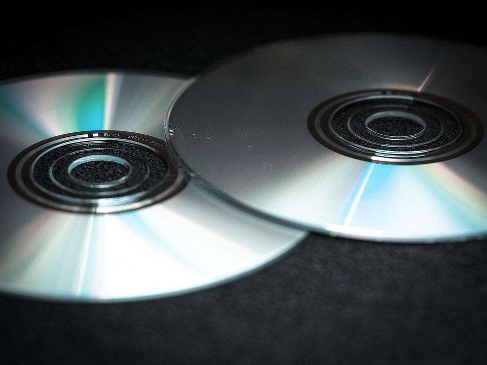 DVD、CD、ブランク、コンピューター、デジタル、シルバー、ディスク、データ
