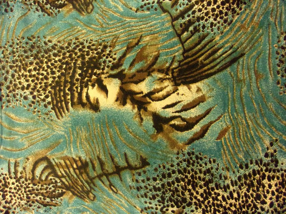 Turquoise And Brown Patterns