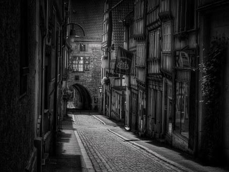 Road Town Paved Historic Center Black Whit